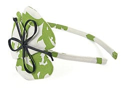 Pink Olive Green Printed Headband