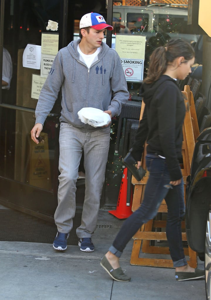 Ashton Kutcher and MIla Kunis stepped out for lunch together in LA.