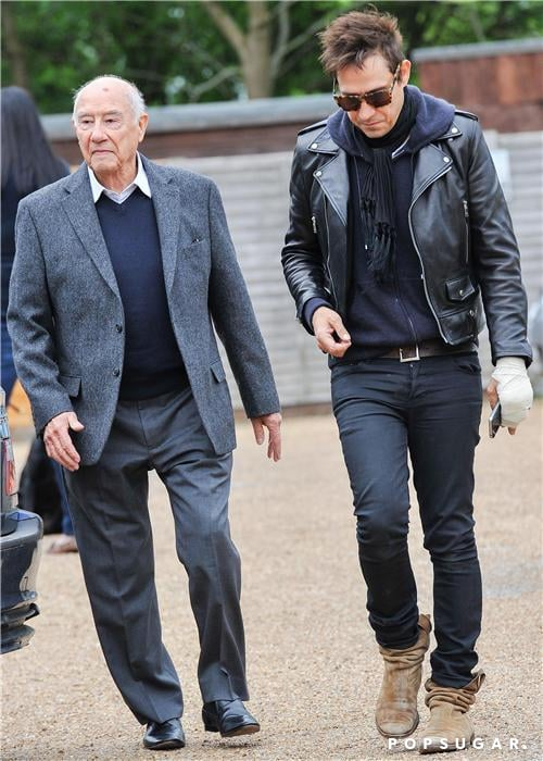 Jamie Hince walked alongside his dad, William Hince.