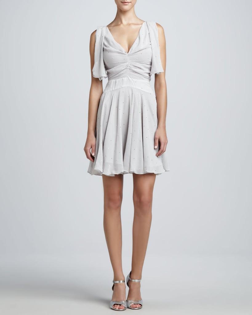Z Spoke Zac Posen Gray Flutter-Sleeve Dress ($166, originally $475)