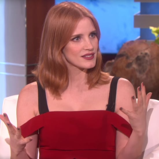Jessica Chastain Talking About Kissing Chris Hemsworth