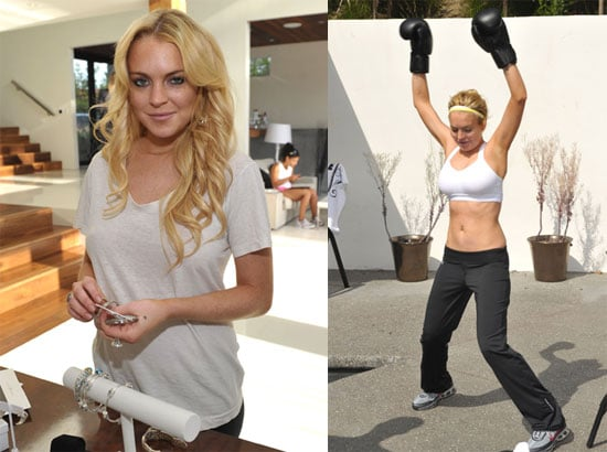 Pictures of Lindsay Lohan in A Sports Bra 2010-06-12 11:00:00