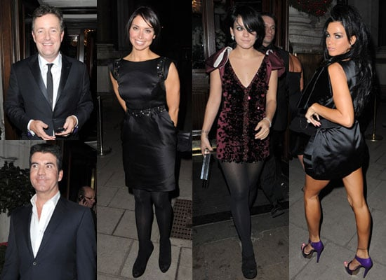 Photos of Lily Allen, Christine Bleakley, Simon Cowell and Katie Price at Piers Morgan Awards in London
