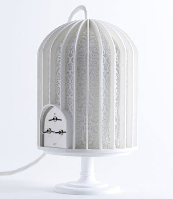 Japanese Designed Music Cage Wireless Speakers Look Like a BirdCage