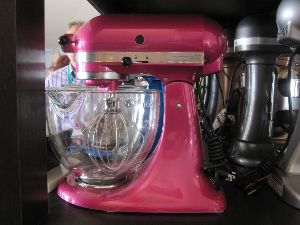Kitchenaid is one of the festival sponsors. Although I already have a standing mixer, I couldn't help but want this awesome hot pink mixer. Isn't she a beauty?