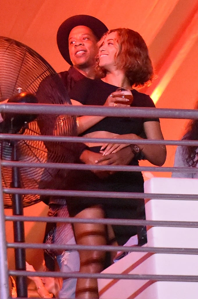 Aug. 31: Beyoncé and Jay Z showed even more PDA at the Made in America Festival in LA. The couple stayed close in the audience and VIP sections and were spotted kissing, cuddling, and laughing while watching the performances. Sept. 1: For good measure, Beyoncé shared an Instagram snap of herself and sister Solange hanging out backstage at Made in America.  Beyoncé and Jay Z are set to continue their tour with two shows in Paris on Sept. 12 and 13; the shows will be featured in an HBO special called On the Run Tour: Beyoncé and Jay Z that will air on Sept. 20. As for the divorce rumors, things seem to have died down, but we'll just have to wait and see how things pan out after this latest project is completed!