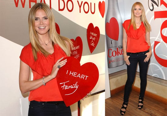 Photos of Heidi Klum at the Heart Truth Pop-Up Experience Wearing Red in Los Angeles 2010-03-19 15:00:00