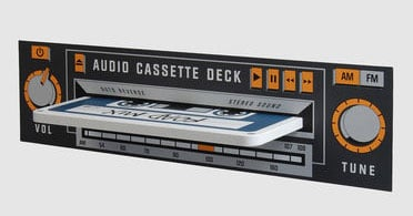 Rocket Cassette Tape Wall Shelf from Yoox