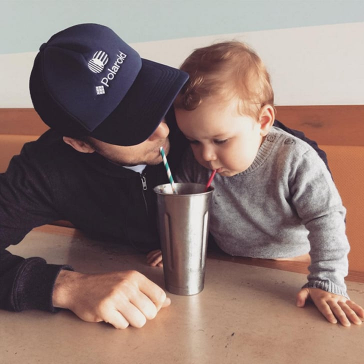 Sonny's first choc malt shake experience was a big one he got to share with his dad in Dec. 2015.