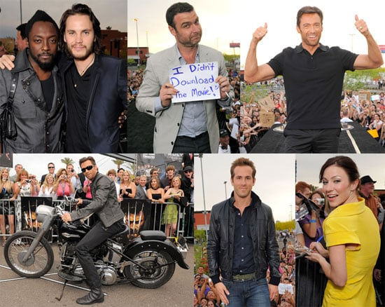Photos of Hugh Jackman, Will I Am, Ryan Reynolds, Liev Schreiber and Taylor Kitsch at the AZ premiere of Wolverine