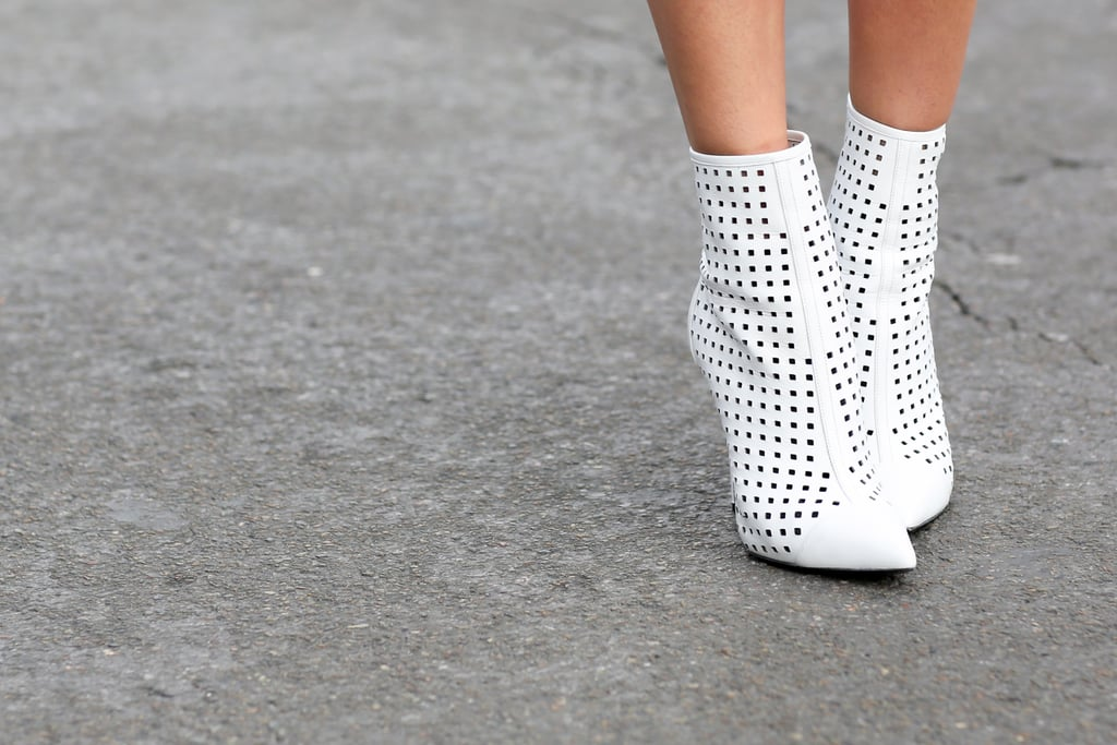 These perforated booties are on the fast track to Spring.