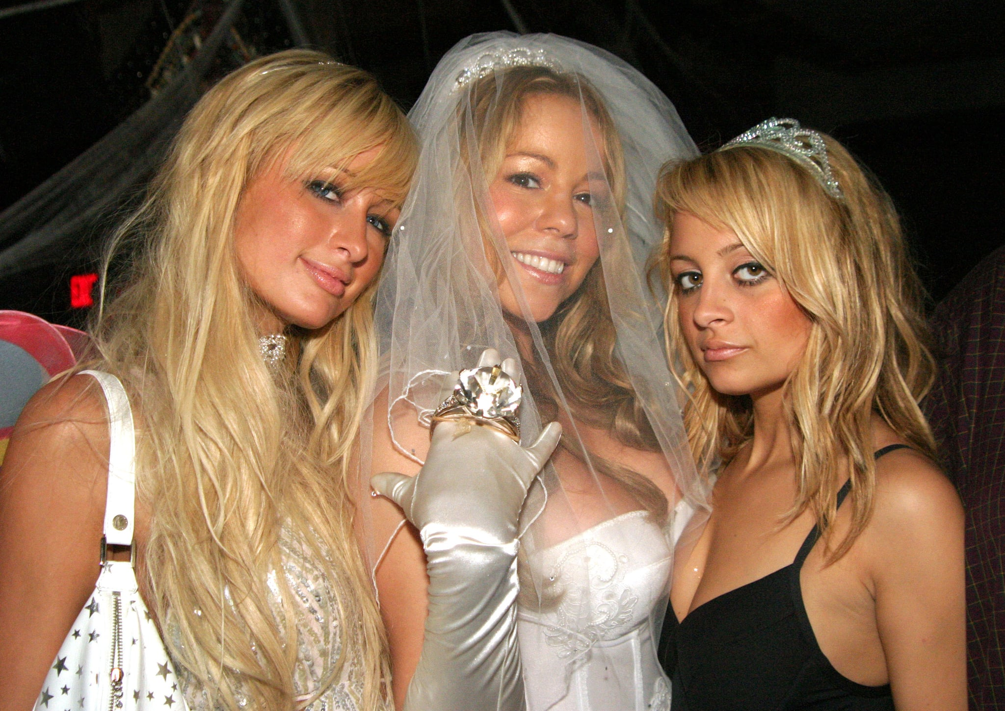 Nicole and Paris showed up together for Mariah Carey's annual Halloween party in NYC back in October 2004.