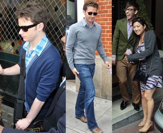 Pictures of the Glee Cast in London, Watch Clip of the Cast Talking About Britney Spears Episode