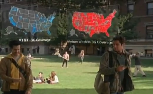 """Fun New """"There's a Map For That"""" Verizon vs. AT&T Ad"""