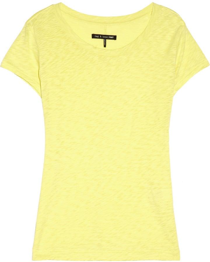 Rag & Bone Basic Brando Burnout Cotton Jersey T-Shirt ($32)