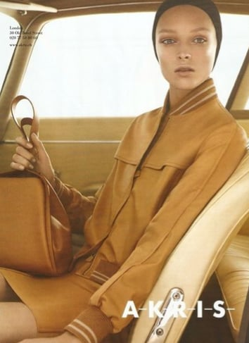Akris's mod beige pieces took a front seat. Source: Fashion Gone Rogue
