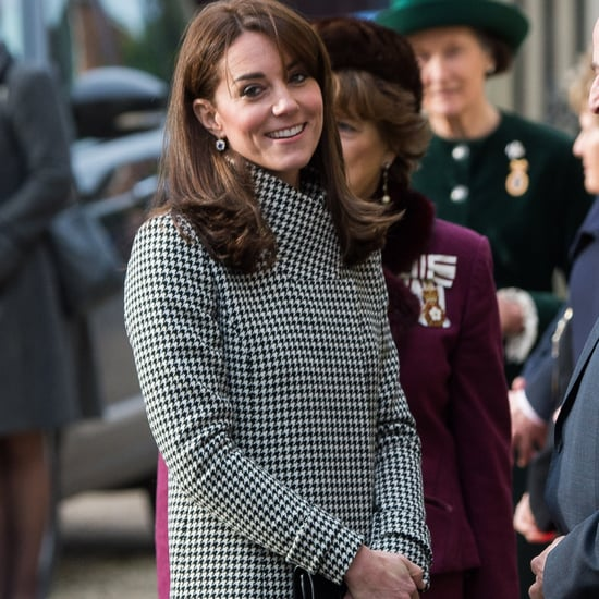 The Duchess of Cambridge Wearing a Houndstooth Coat