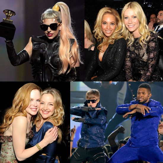 Pictures of Gwyneth Paltrow, Katy Perry, Justin Bieber, Usher, Eminem, and Rihanna at the 2011 Grammy Awards