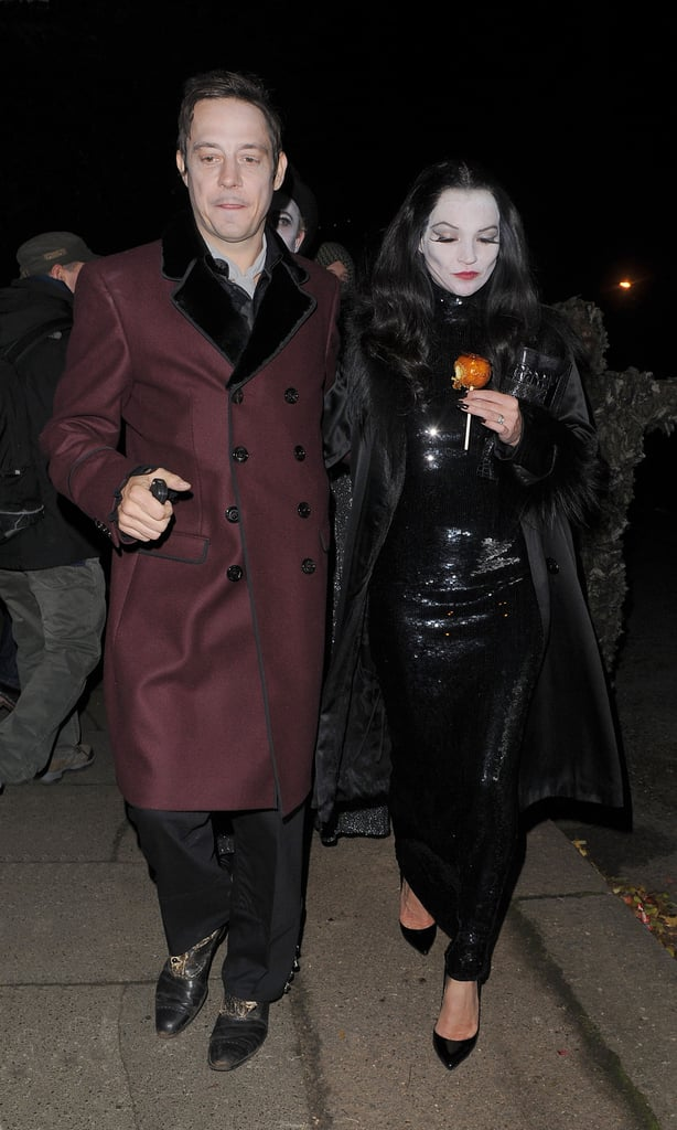 Kate Moss and Jamie Hince stepped out together, in costumes of course, for a soiree in London in 2012.
