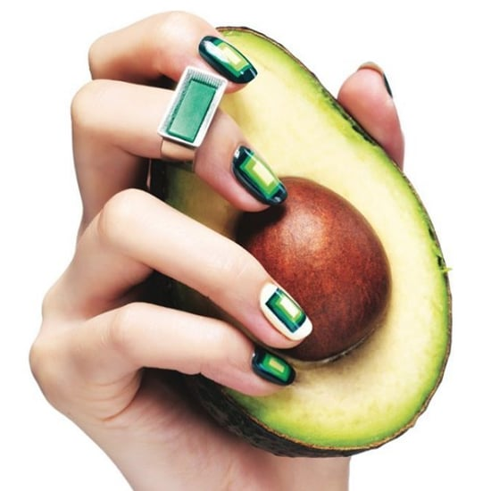 Avocado Nail Art