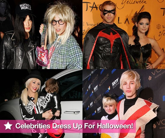 Extensive Photo Gallery of Celebrities in Fancy Dress Costumes For Halloween 2009 Inc Kellan Lutz, Ashley Greene, Alexa Chung