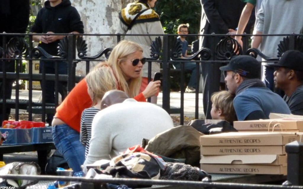 In October 2011, Gwyneth Paltrow and Chris Martin attended a Brooklyn kids' party with Beyoncé Knowles and Jay-Z.