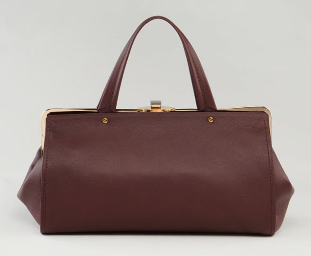 The bag: Lanvin Dr. Lanvin Doctor Bag ($4,350) Why we love it: This is a perfect intersection of timelessness and timeliness. The elongated, wider satchels emerged as a huge trend for Fall, and this may just be its most covetable version. Luxe, burgundy-brown leather in a friendly, totable shape goes with everything in our closet, for work or play.