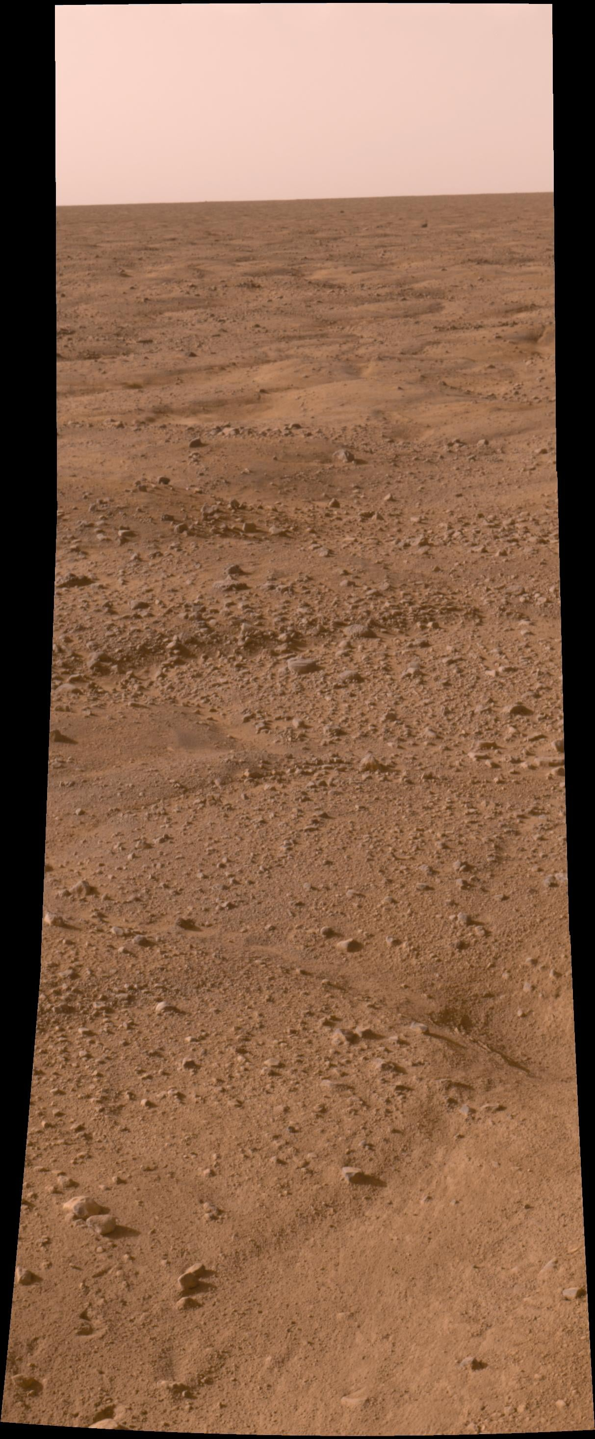The plains of the northern polar region of Mars.