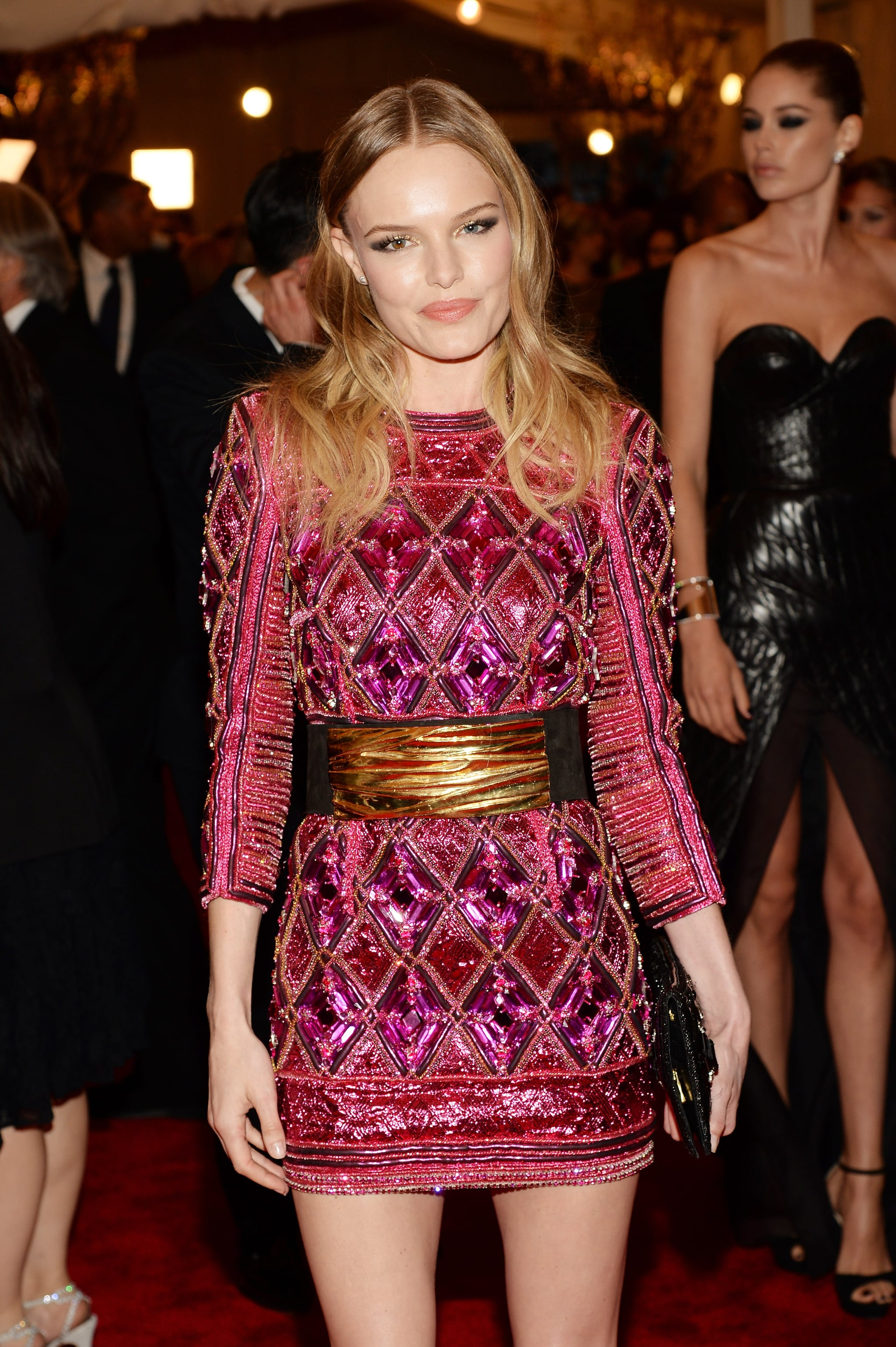 Kate Bosworth is known for her beachy waves, and she rocked them well at the Met Gala.