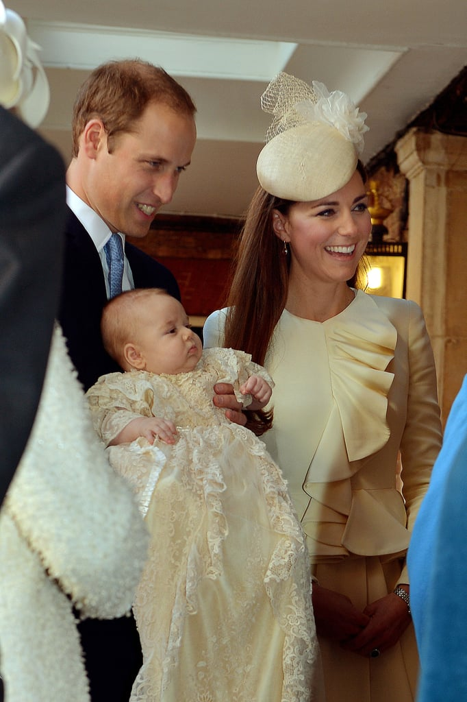 The Duke and Duchess of Cambridge's little one, Prince George, was christened on Oct. 23, 2013, at Chapel Royal in London's St. James's Palace.