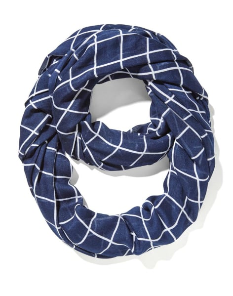 Windowpane Print Scarf
