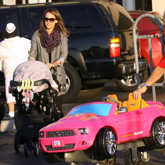 Jessica Alba Buys Pink Car For Honor Pictures