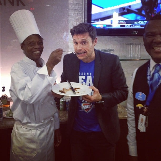 Ryan Seacrest ate brisket in Oklahoma City. Source: Instagram user ryanseacrest