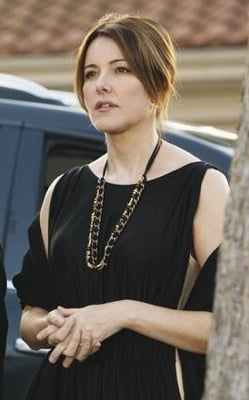 Ellie Torres in Black Dress and Chain Necklace on Cougar Town