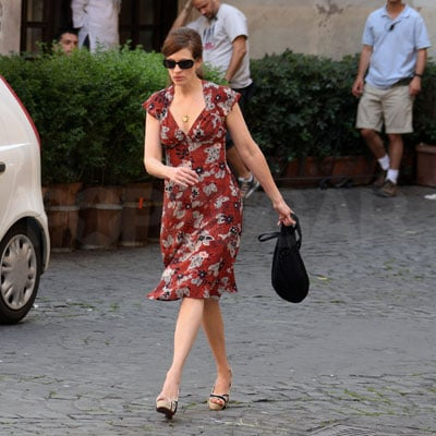 Julia Roberts in Rome to Film Duplicity