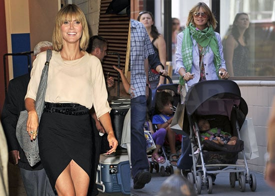 Pictures of Heidi Klum Leaving Regis and Kelly and With Kids in New York