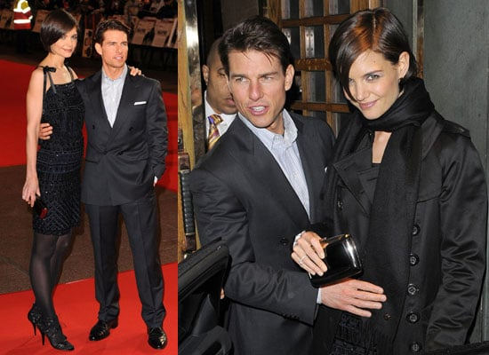 Photos of Tom Cruise and Katie Holmes in London For Valkyrie Premiere