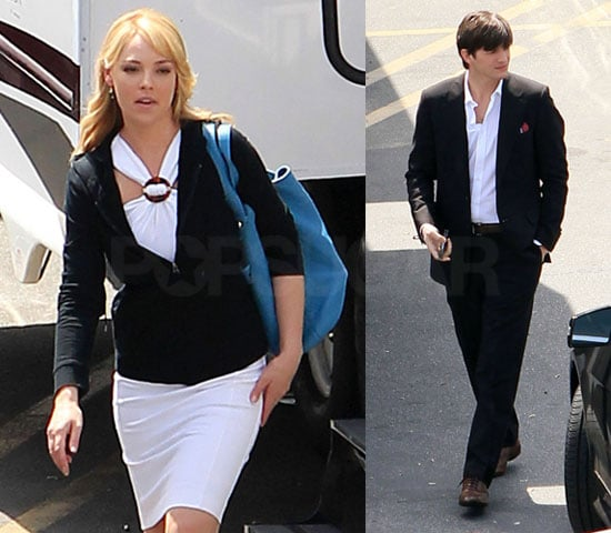 Photos of Katherine Heigl and Ashton Kutcher On LA Set of Killers For Reshoots