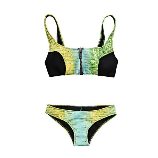 This swim set is a great combination of things I love at the moment: a sporty shape, a scuba feel and a Peter Pilotto print! — Jess, PopSugar editor  Bikini, approx $ 475 Peter Pilotto at Matches