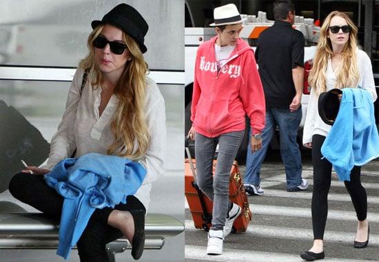 Photos of Lindsay Lohan and Samantha Ronson in NYC 2008-07-29 17:00:32