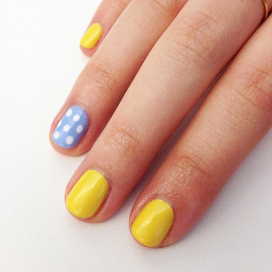 Blue Accent Nail