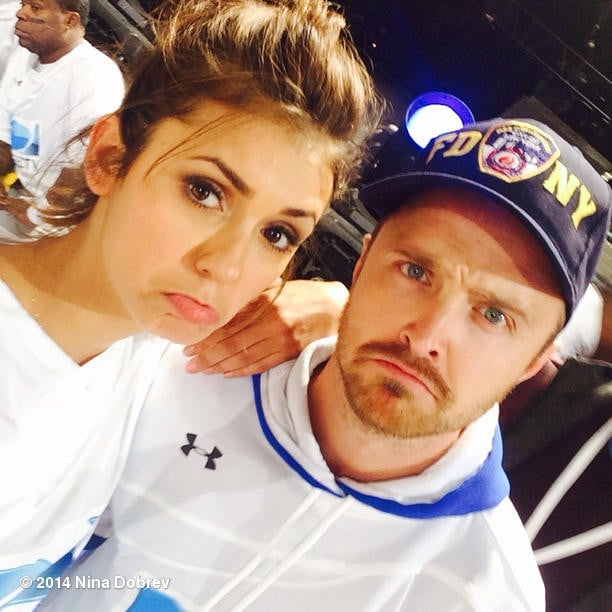Nina Dobrev and Aaron ...
