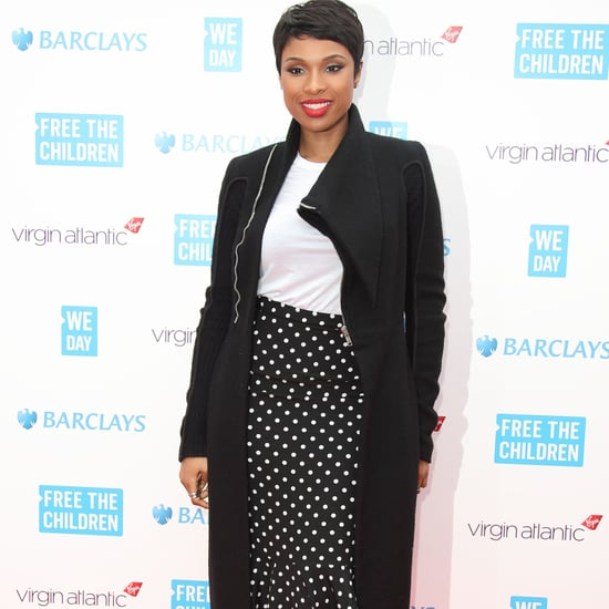Jennifer Hudson in Polka Dot Skirt at We Day Concert