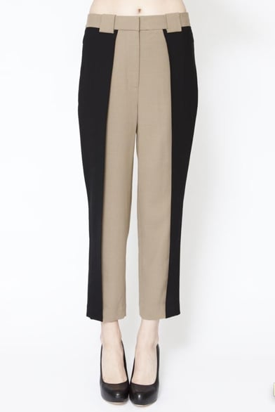 Crisp trousers with the coolest colorblock effect.  Phillip Lim Foldover Trouser ($425)