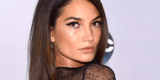 Lily Aldridge Wears A Super Sheer Dress To The CMA Awards