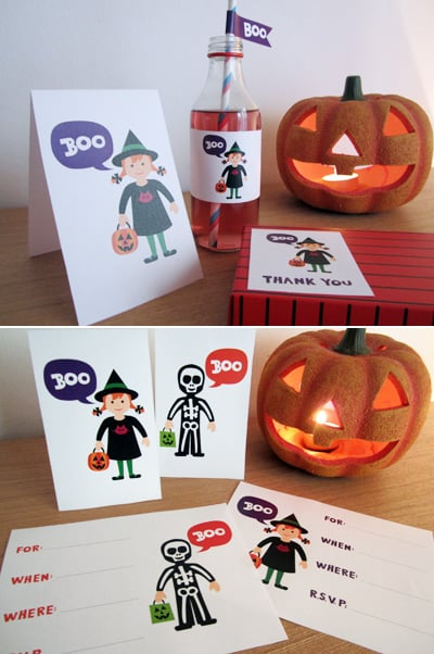 """Boo"" Kiddie Halloween Party Printable Collection"