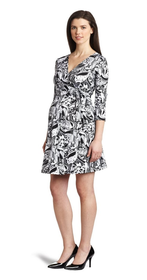 This Three Seasons Maternity Women's 3/4 Sleeve Print Wrap Dress ($48) would be great for work and weekend too.