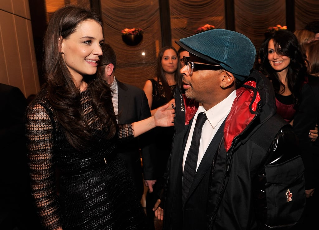 Katie Holmes and Spike Lee mingled at The New York Observer's 25th anniversary party in NYC.