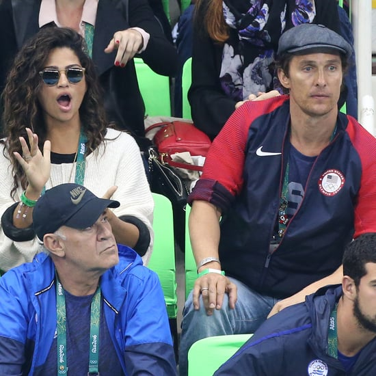 Camila Alves Watching Swimming Finals at Rio Olympics 2016