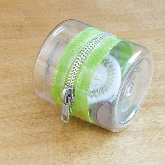 Plastic-Bottle Zipper Container